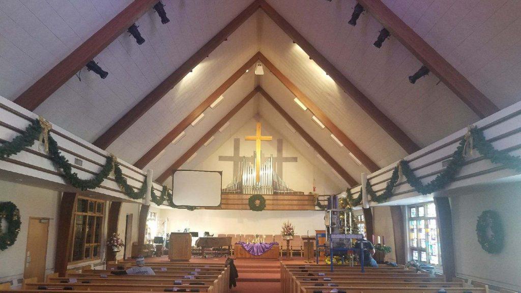 Church Led Spot Light Conversion High Lighting Service Co